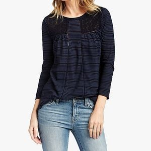 Lucky Brand Striped Long Sleeve Tee Size M